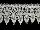 Lily 8 White Floral Embroidered Venise Lace Bridal Sewing Crafts DIY by Yard
