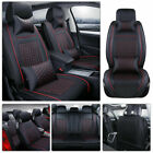 Deluxe Full Set Car Seat Covers Protector Interior Pu Leather Cushion Universal