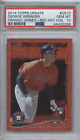 GEORGE SPRINGER 2014 TOPPS UPDATE RED HOT FOIL ROOKIE RC PSA 10