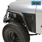 EAG Edge Front Fender with Flair and LED Eagle Lights Fit 76 86 Jeep Wrangler CJ