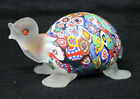 Murano Satin Millefiori  Turtle  Sculpture Art Glass