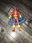 1985 Kenner DC Comics Super Powers Action Figure Red Tornado w Cape Free Ship