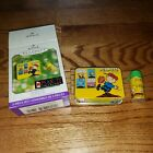 Hallmark Keepsake Ornament Peanuts Lunch Box Snoopy Charlie Brown Thermos 2 pc