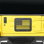 USA Flag Spare Tire Tailgate Vent Plate Holder Cover For Jeep Wrangler TJ 97 06