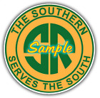 The Southern Railroad Contour Cut Vinyl Decals Sign Stickers Trains Railway
