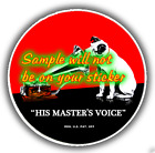 RCA 'M' His Masters Voice Radio Contour Cut Vinyl Decals Sign Stickers