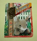 TY SERIES 4 ~ GOLD NIBBLY ~ BEANIE BABIES TRADING CARDS ~ HARD TO FIND !!!
