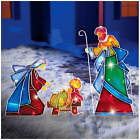 Nativity Christmas Scene Outdoor Mosaic Decoration Holiday Joseph Mary Jesus