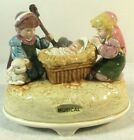 Vtg Otagiri Nativity Music Box Baby Jesus Plays Silent Night Christmas J