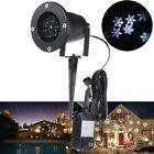 LED Snowflake Landscape Projector Light Outdoor Garden Yard Holiday Xmas Lamp