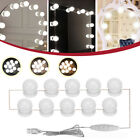10PC USB Hollywood LED Bulb Vanity Makeup Dressing Table Dimmable Mirror Light