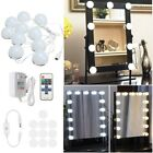 3.3M Dimmable 10Bulbs LED Vanity Mirror Lights DC12V+Dimmer Remote Control US