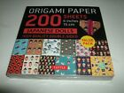 Origami Paper 200 Sheets Japanese Dolls 6 x 6 15 cm NEW SEALED Double Sided