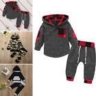 Baby Boy Girl Infant Clothes Autumn Winter Hooded Tops+Pants 2PCS Set Outfits US