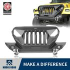STEEL Mad Max Front Grill+Bumper Bar For Wrangler Jeep TJ 1997 2006 Hooke Road