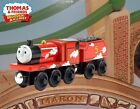 THOMAS & FRIENDS WOODEN RAILWAY ~ ROLL AND WHISTLE JAMES ~ ABSOLUTELY MINT ~2013