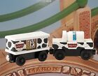 THOMAS & FRIENDS WOODEN RAILWAY ~ SODOR DAIRY CARS CARS~ ABSOLUTELY MINT 2008 UK