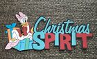 Disney Christmas Spirit with Daisy Duck printed scrapbook page die cut