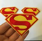1 piece Superman Logo Embroidered Iron On Patch new around 25