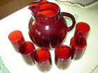 Vintage Anchor Hocking Ball Ruby Red Glass 81/2