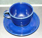 FIESTA Ware Cup & Saucer COBALT Blue Color XXA 2009 EXC Shape Homer Laughlin USA