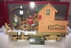 NEW BRIGHT HOLIDAY EXPRESS ANIMATED LOG MILL WOOD CAR XMAS G Scale Train