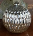 Large Silver Gold Ombr MERCURY Glass Christmas Ornaments Set Of 4