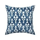 Tribal Triangle Native Peace Throw Pillow Cover w Optional Insert by Roostery