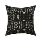Dotty Native Mark Making Throw Pillow Cover w Optional Insert by Roostery