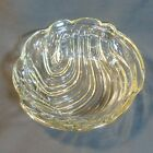 Heavy EAPG Clear Glass bowl - wave or swirl type design
