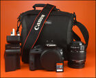 Canon EOS 100D DSLR Camera +18-55mm Zoom Lens kit + Battery, & Charger & 8GB SD