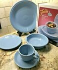 NIBFiesta Discontinued Periwinkle Blue 5 Piece Place Setting Retired 1st