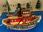 Lemax Village Plymouth Corners 2001 BESSIE - TUG BOAT (15541) Lighted RETIRED