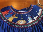 Rosalinda Smocked Nativity Couture Christmas Dress 8Y NWT