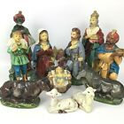 Vintage Mid Century Nativity Large Figures 12 Pieces Japan Christmas Religious