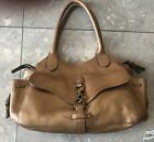 COLE HAAN Medium Brown Leather PURSE WOMENS DESIGNER HAND BAG HOBO SHOULDER TOTE