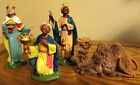Vintage Nativity Set DEPOSE ITALY Spider Mark 45 Figures 3 Wise Men