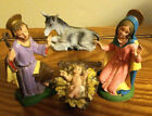 Vintage Nativity Set DEPOSE ITALY Spider Mark 45 Figures Holy Family