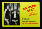 Grateful Dead Backstage Pass Alfred Hitchcock J Leigh Maryland 10 9 94 10 9 1994