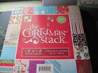 THE CHRISTMAS STACK BOOK OF 180 SHEETS SCRAPBOOKING CARD MAKING PAPER