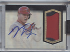 MIKE TROUT 2018 TOPPS DYNASTY ENCASED PATCH AUTO ANGELS 07 10