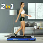 2 in1 Under Desk Folding TreadmillElectric Motorized Portable Pad Treadmills US