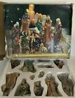 Kirkland 13 Piece Porcelain Nativity Set Original Box Holiday Christmas