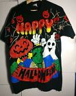 1996 Freeze Happy Halloween Vintage Black Graphic T Shirt Frankenstein Large L