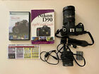 Nikon D90 Digital SLR Camera 18 200mm 2 batt manual charger usb cord DVD cheatsh