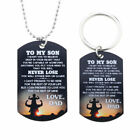 Stainless Steel To My Son Dog Tag Necklace Inspirational Father Dad Graduation