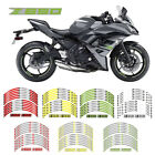 7 Style  Motorbike Wheel Decal Edge Outer Rim Stickers Tape For Kawasaki Z 650