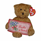 Ty Beanie Baby Thanks a bunch - MWMT (Bear Greetings Collection)