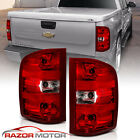 For 07 14 Chevy Silverado Truck Red Clear Factory Replacement Brake Tail Lights
