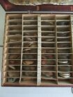 NOS HUGE LOT GLASS POCKET WATCH CRYSTALS ANTIQUE WATCHMAKER PARTS IN WOOD CASE